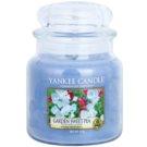Yankee Candle Garden Sweet Pea ароматизована свічка  411 гр Classic  середня