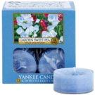Yankee Candle Garden Sweet Pea čajová sviečka 12 x 9,8 g