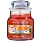 Yankee Candle Honey Clementine świeczka zapachowa  104 g Classic mała