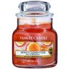 Yankee Candle Honey Clementine vonná sviečka 104 g Classic malá