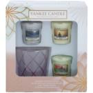 Yankee Candle My Serenity darčeková sada I. votívna sviečka 3 x 49 g + svietnik na votívnu sviečku