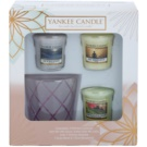 Yankee Candle My Serenity Gift Set I. votive candle 3 x 49 g + candlestick for votive candle