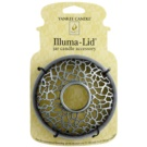 Yankee Candle Matrix Brushed Trim ring   for Scented Candle Classic, Large and Medium (Silver)