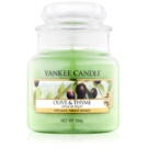 Yankee Candle Olive & Thyme vela perfumado 104 g Classic pequeno