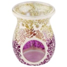 Yankee Candle Purple & Gold Crackle Glass Aroma Lamp