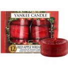Yankee Candle Red Apple Wreath čajová sviečka 12 x 9,8 g