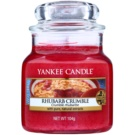 Yankee Candle Rhubarb Crumble vonná svíčka 105 g Classic malá