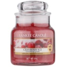 Yankee Candle Cranberry Ice ароматизована свічка  104 гр Classic  маленька