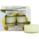 Yankee Candle Sicilian Lemon čajová svíčka 12 x 9,8 g