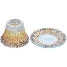 Yankee Candle Sunset Mosaic sada stínítka a talíře   na vonnou svíčku Classic malý