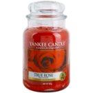 Yankee Candle True Rose dišeča sveča  623 g Classic velika