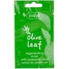 Ziaja Olive Leaf regeneračná maska  (Regenerating Mask With Hyaluronic Acid) 7 ml