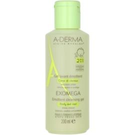 A-Derma Exomega Geschmeidigmachendes Waschgel für Körper und Haare für Kinder  200 ml
