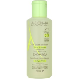 A-Derma Exomega Softening Cleansing Gel for Body and Hair For Kids  200 ml