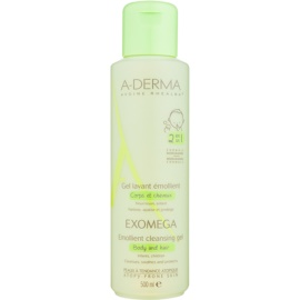 A-Derma Exomega Softening Cleansing Gel for Body and Hair For Kids  500 ml