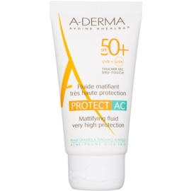 A-Derma Protect AC mattierendes Fluid SPF 50+  40 ml