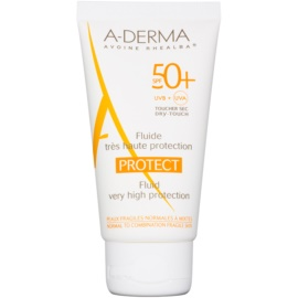 A-Derma Protect Sunscreen Fluid for Normal to Combination Skin SPF 50+  40 ml
