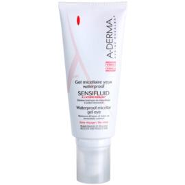 A-Derma Sensifluid micelární gel na odstranění voděodolného očního make-upu  100 ml