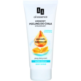 AA Cosmetics Oil Essence Avocado&Babassu vyhladzujúci telový peeling pre suchú pokožku Ylang Ylang 200 ml