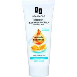 AA Cosmetics Oil Essence Avocado,Babassu vyhlazující tělový peeling pro suchou pokožku Ylang Ylang 200 ml