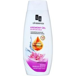 AA Cosmetics Oil Essence Avocado&Babassu krémes tusfürdő gél a nagyon száraz bőrre  400 ml
