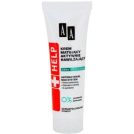 AA Cosmetics Help Acne Skin hidratáló hatású mattító krém  40 ml