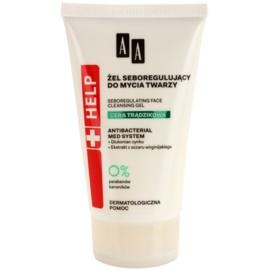 AA Cosmetics Help Acne Skin почистващ гел за намаляване на кожен себум  150 мл.