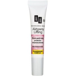 AA Cosmetics Age Technology Active Lifting crème yeux anti-rides 50+  15 ml