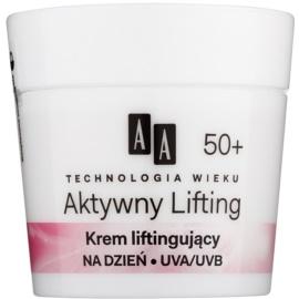 AA Cosmetics Age Technology Active Lifting tápláló fiatalító krém az arc kontúr vonalainak feszesítésére 50+  50 ml
