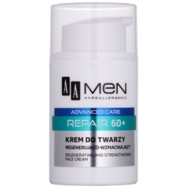 AA Cosmetics Men Advanced Care bőrmegújító regeneráló arckrém 60+  50 ml