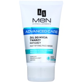 AA Cosmetics Men Advanced Care gel nettoyant matifiant visage  150 ml