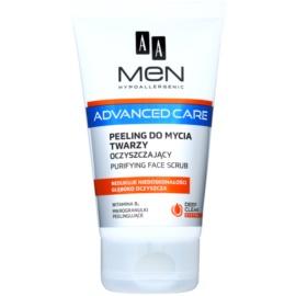 AA Cosmetics Men Advanced Care gel exfoliant de curatare fata  150 ml