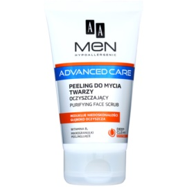 AA Cosmetics Men Advanced Care čistiaci peelingový gél na tvár  150 ml