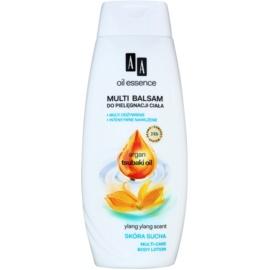 AA Cosmetics Oil Essence Argan&Tsubaki leite corporal nutritivo  para pele seca  400 ml