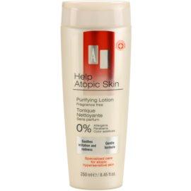 AA Cosmetics Help Atopic Skin čisticí tonikum bez parfemace  250 ml