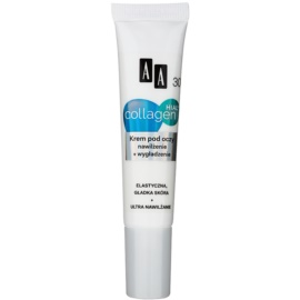 AA Cosmetics Collagen HIAL+ Moisturising and Smoothing Eye Cream 30+  15 ml