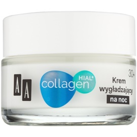AA Cosmetics Collagen HIAL+ creme de noite suavizante 30+  50 ml