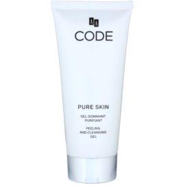 AA Cosmetics CODE Sensible Pure Skin hámlasztó tisztító gél az érzékeny arcbőrre  200 ml