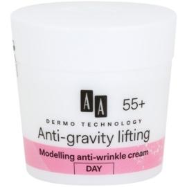 AA Cosmetics Dermo Technology Anti-Gravity Lifting modellierende Creme mit Antifalten-Wirkung 55+  50 ml