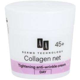 AA Cosmetics Dermo Technology Collagen Net Builder nappali liftinges kisimító krém 45+  50 ml