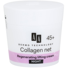 AA Cosmetics Dermo Technology Collagen Net Builder regenerační noční krém s liftingovým efektem 45+  50 ml