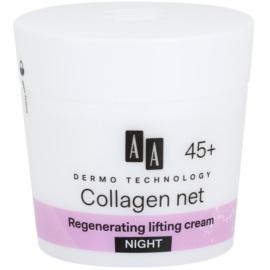 AA Cosmetics Dermo Technology Collagen Net Builder Cremă de noapte regenerare cu efect de lifting 45+  50 ml