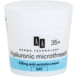 AA Cosmetics Dermo Technology Hyaluronic Microthreads crème de jour restructurante anti-rides 35+  50 ml