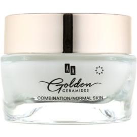AA Cosmetics Golden Ceramides crema giorno antirughe  effetto opaco  50 ml