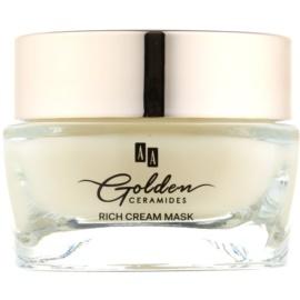 AA Cosmetics Golden Ceramides erneuernde Creme-Maske mit Goldpuder  50 ml