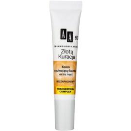 AA Cosmetics Age Technology Golden Therapy festigende Creme für tiefe Falten an Augen und Lippen 60+ (Lifting, Bio Peptide) 15 ml