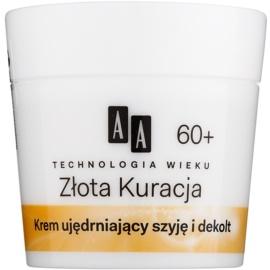AA Cosmetics Age Technology Golden Therapy zpevňující krém na krk a dekolt 60+  50 ml