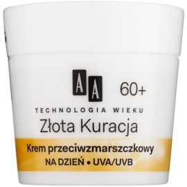 AA Cosmetics Age Technology Golden Therapy denní protivráskový krém 60+  50 ml
