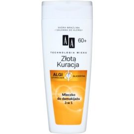 AA Cosmetics Age Technology Golden Therapy szemfestéklemosó tej arcra és szemre 60+  200 ml