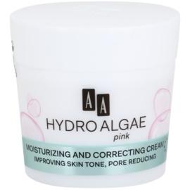 AA Cosmetics Hydro Algae Pink bőrszín egységesítő krém hidratálja a bőrt és minimalizálja a pórusokat  50 ml